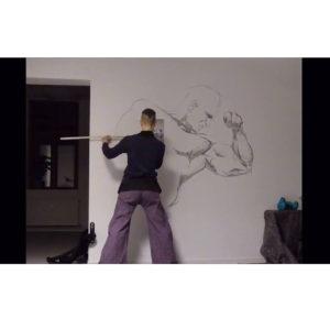 Wandbild Making of in der Physiotherapiepraxis von Victor Wazinski